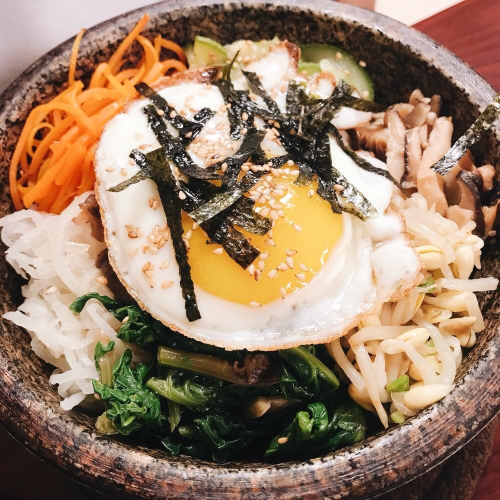 Food from Nak Won Korean Restaurant / Rice cake Bakery