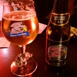 Le Pery - Toulouse, France. Bière belge: rince cochon