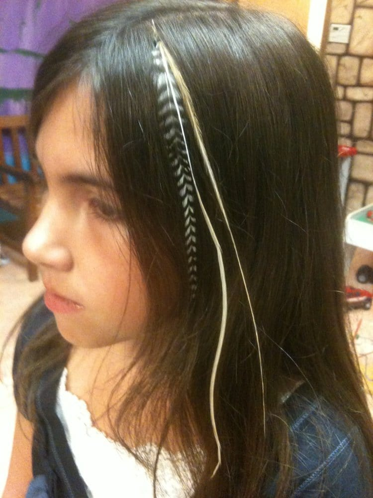Hair Feather Extensions At Shear Adventures Danville Ca Yelp