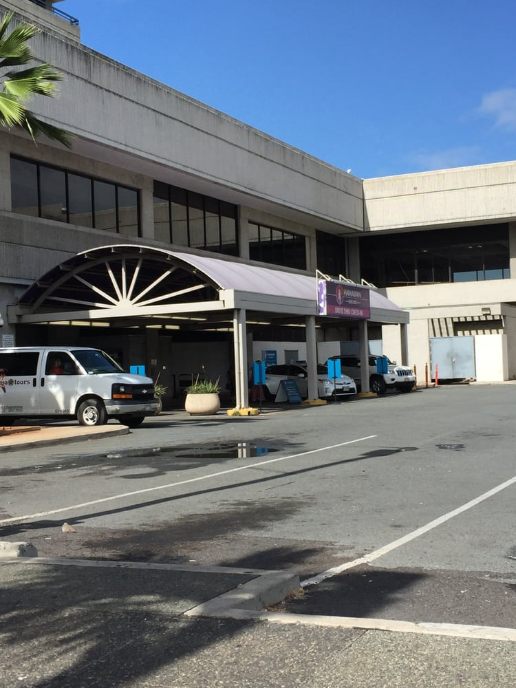 Kaiser Shuttle pickup area at the Honolulu Airport Yelp