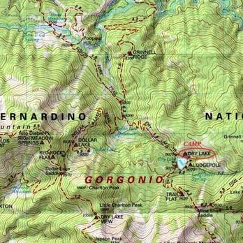 Mount San Gorgonio Photos Hiking San Bernardino Mountains - Map of united states with mountains