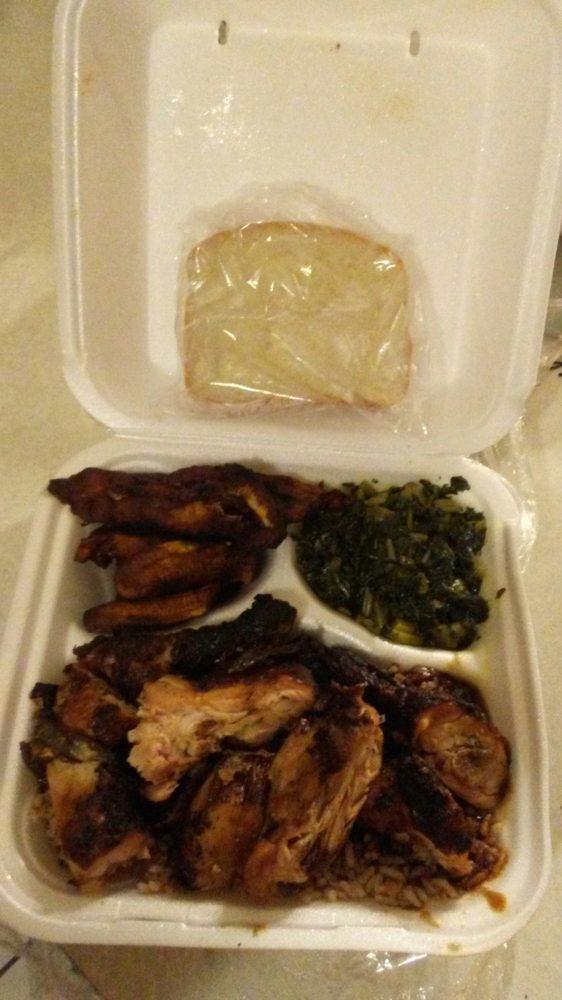 Food from Tropic Island Jerk Chicken Restaurant