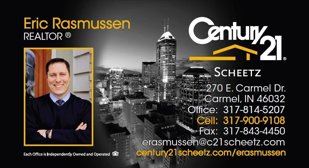 Eric Rasmussen Century 21 Business Card - Yelp