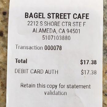 Bagel Street Cafe Alameda Ca