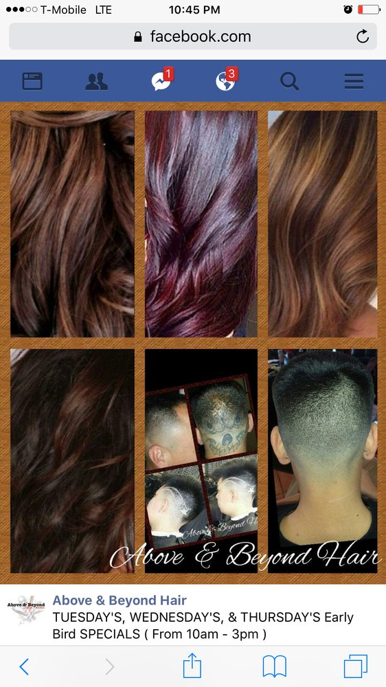 Above beyond hair salon barbershop friseur 2200 e for Above and beyond beauty salon
