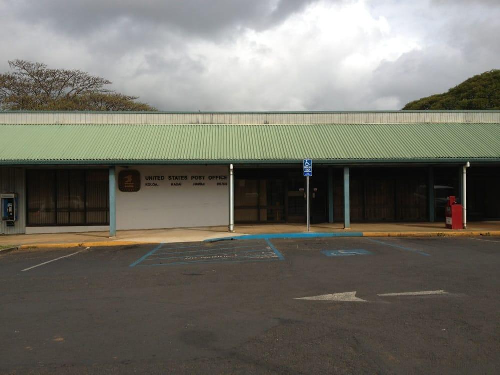 US Post Office: 5485 Koloa Rd, Koloa, HI