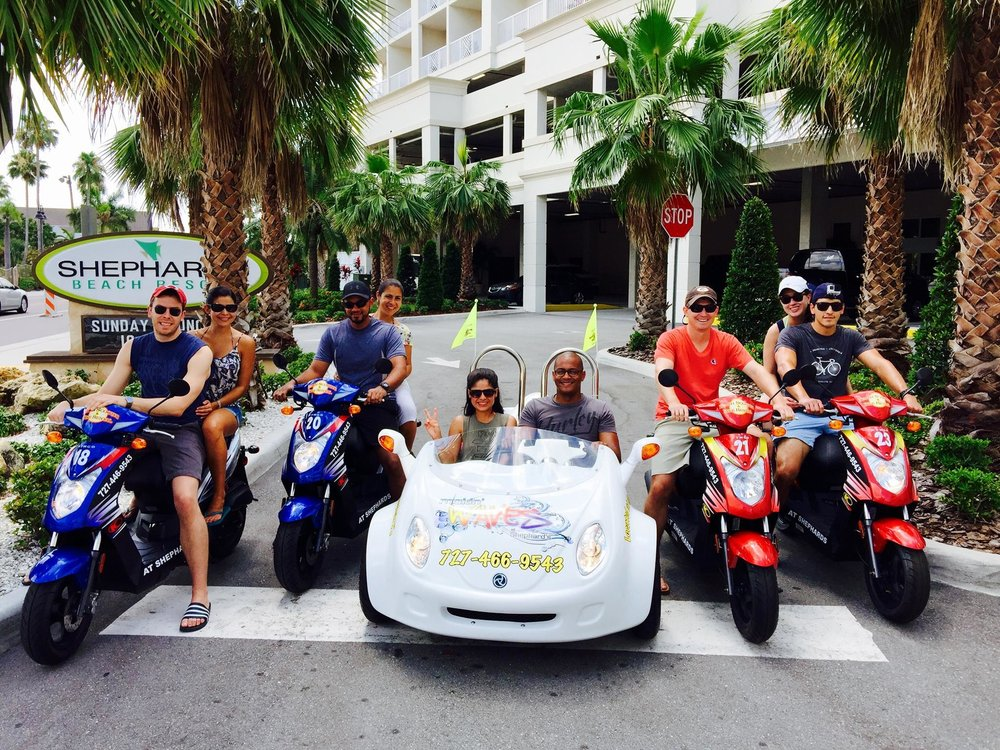 Clearwater Beach Scooter and Bike Rentals: 619 S Gulfview Blvd, Clearwater, FL