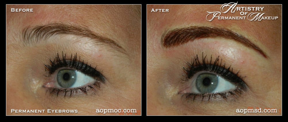 Eyebrows Before And Right After Procedure They Will Lighten And