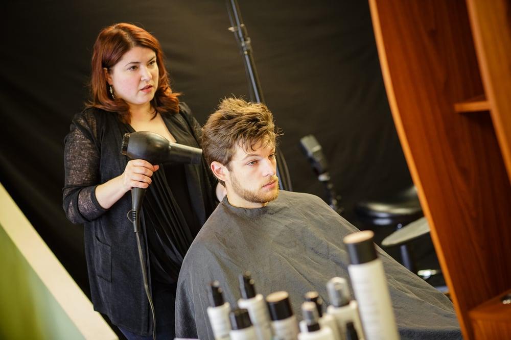 Salon owner and artistic leader charlene bancel and model - Halo salon vancouver ...