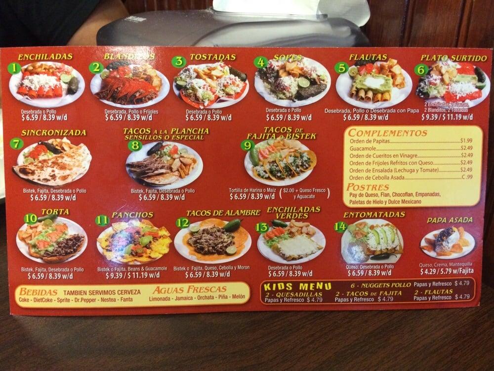 Antojitos Restaurant Menu