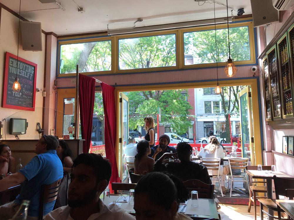 restaurant interior with outdoor patio in front. - yelp