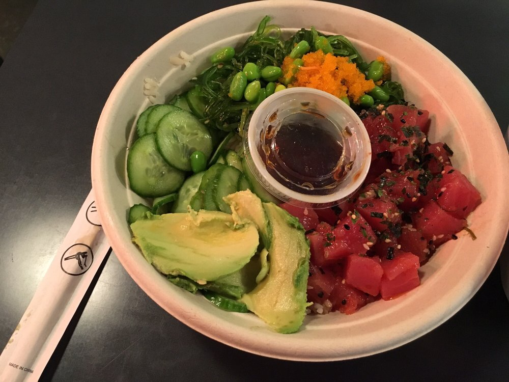 Aloha poke bowl excellent value and delicious yelp for Seasalt fish grill