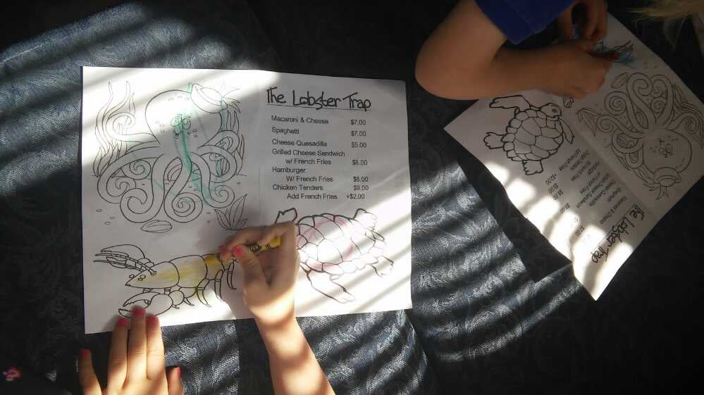Kid-friendly at The Lobster Trap. By Clairin D. of Jill Paige Homes - Yelp