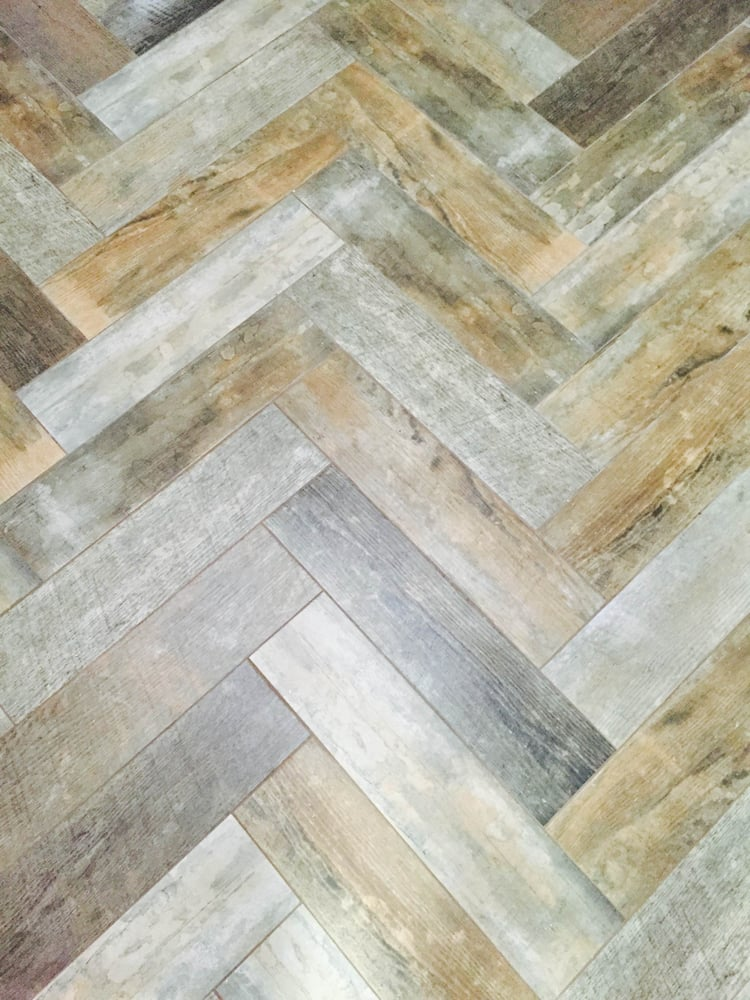 Herringbone lay wood tile plank porcelain yelp for Hardwood floors las vegas