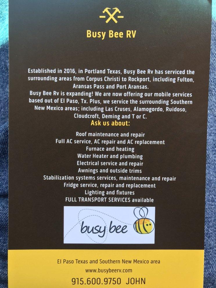 Busy Bee RV: El Paso, TX