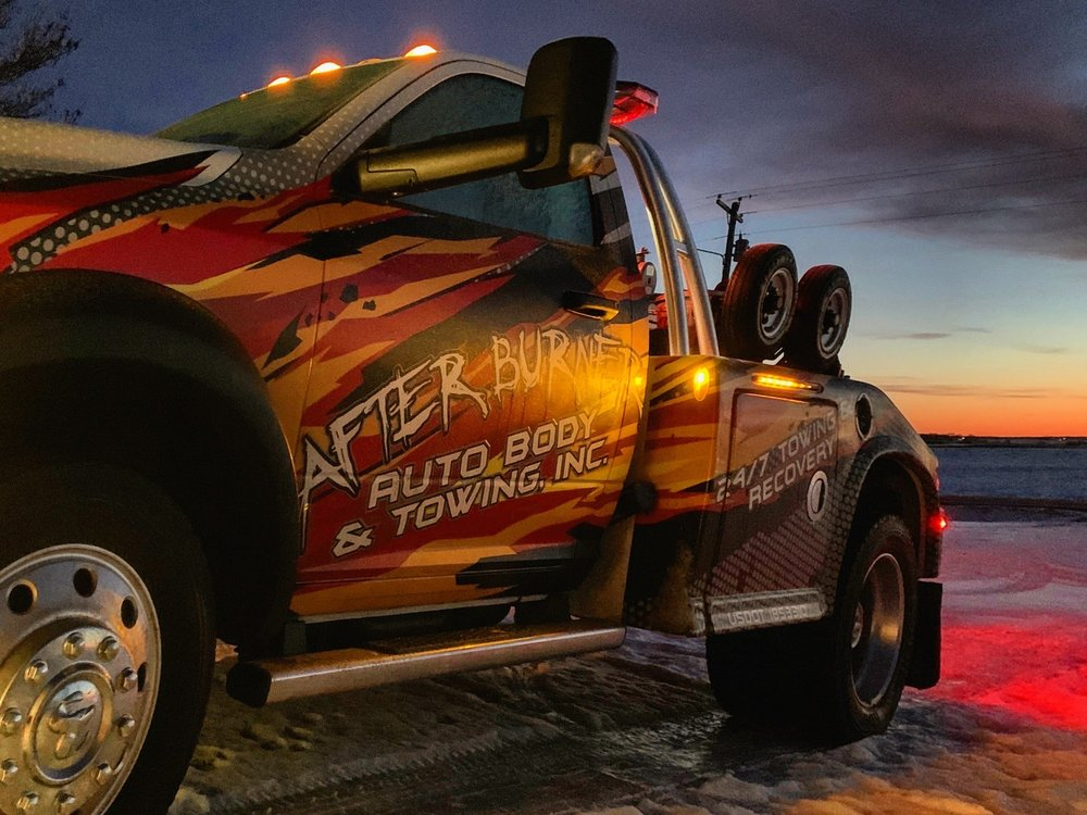 After Burner Auto Body & Towing: 118 W Main St, Arlington, MN