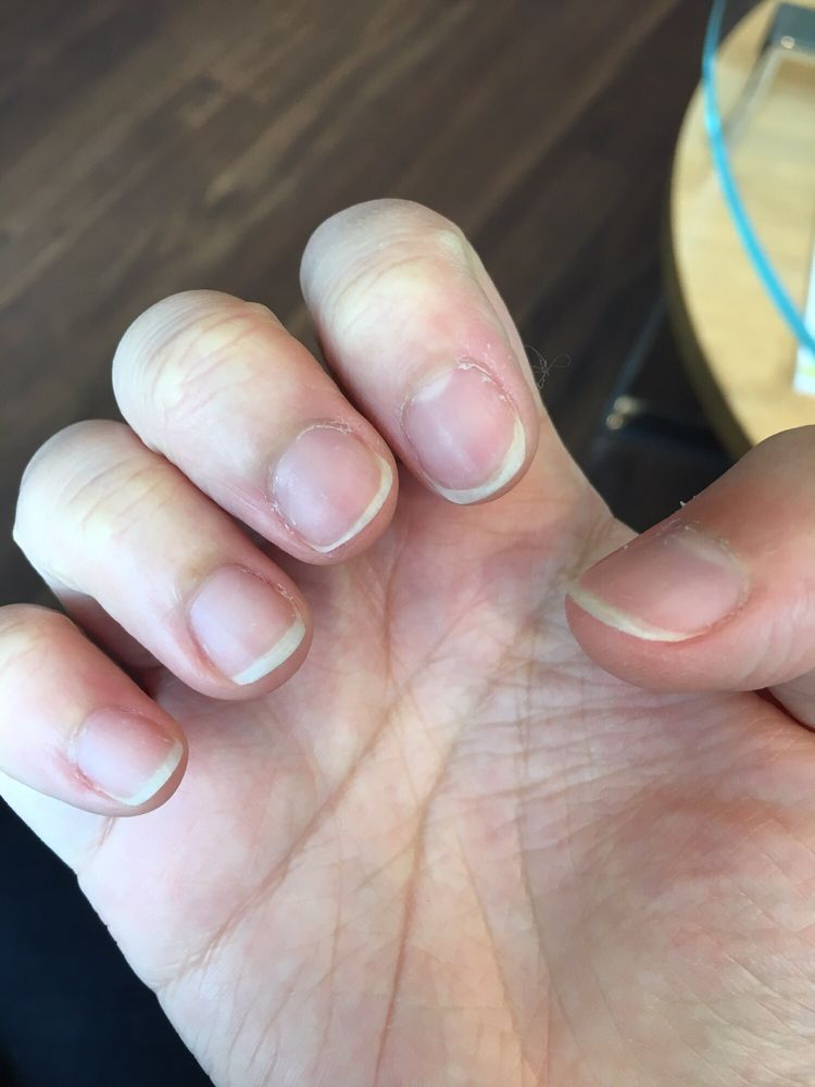 Uneven cutting and Shayla didn\'t file my nails in the shape I wanted ...