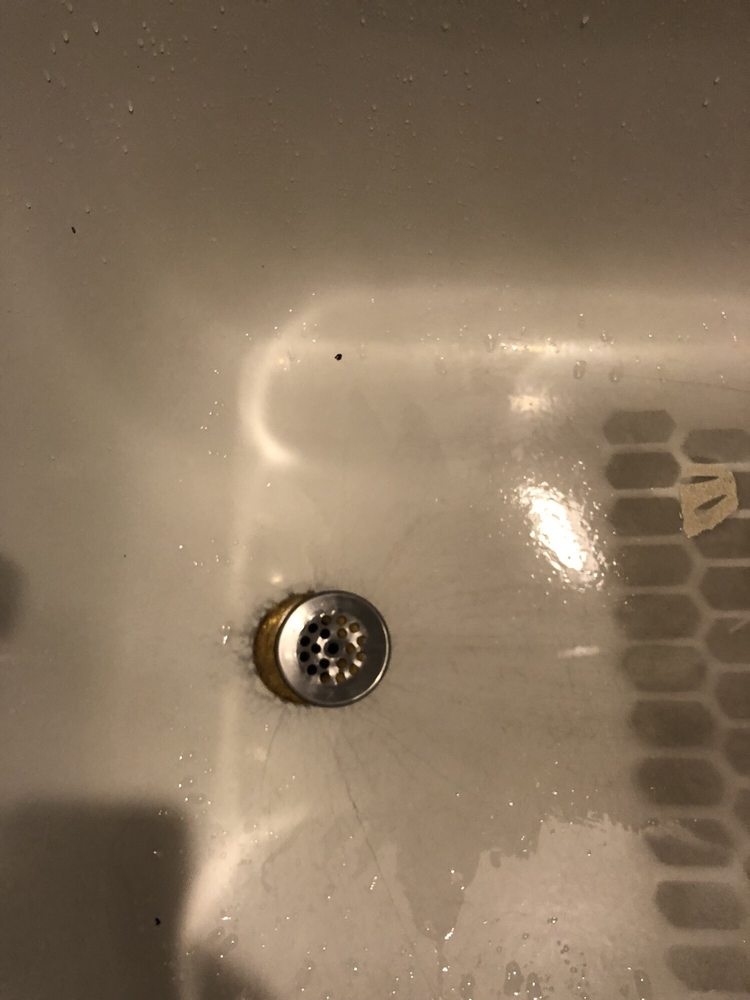 The tub drain screen wasn\'t even attached - Yelp
