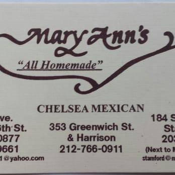 Mary Ann S Restaurant Mexican Chelsea Closed