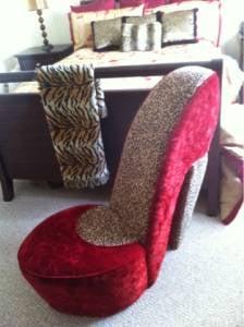 Purple High Heel Chair   Yelp