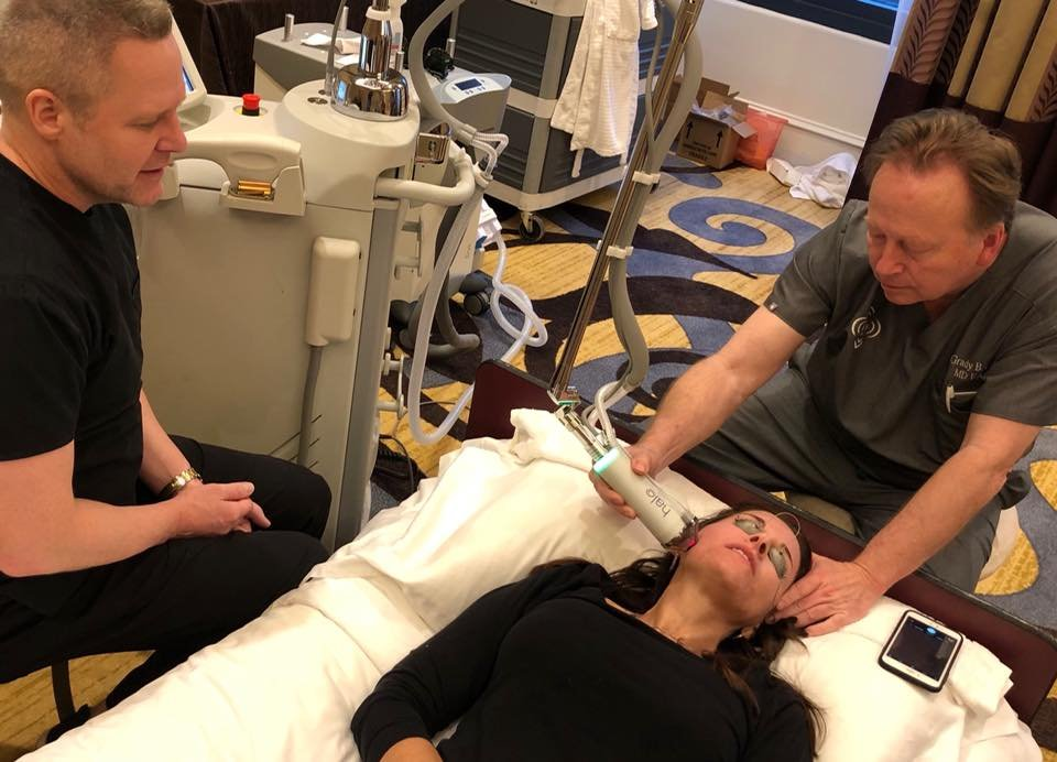Dr  Core and his nurse Beth in Atlanta, GA for Sciton Laser