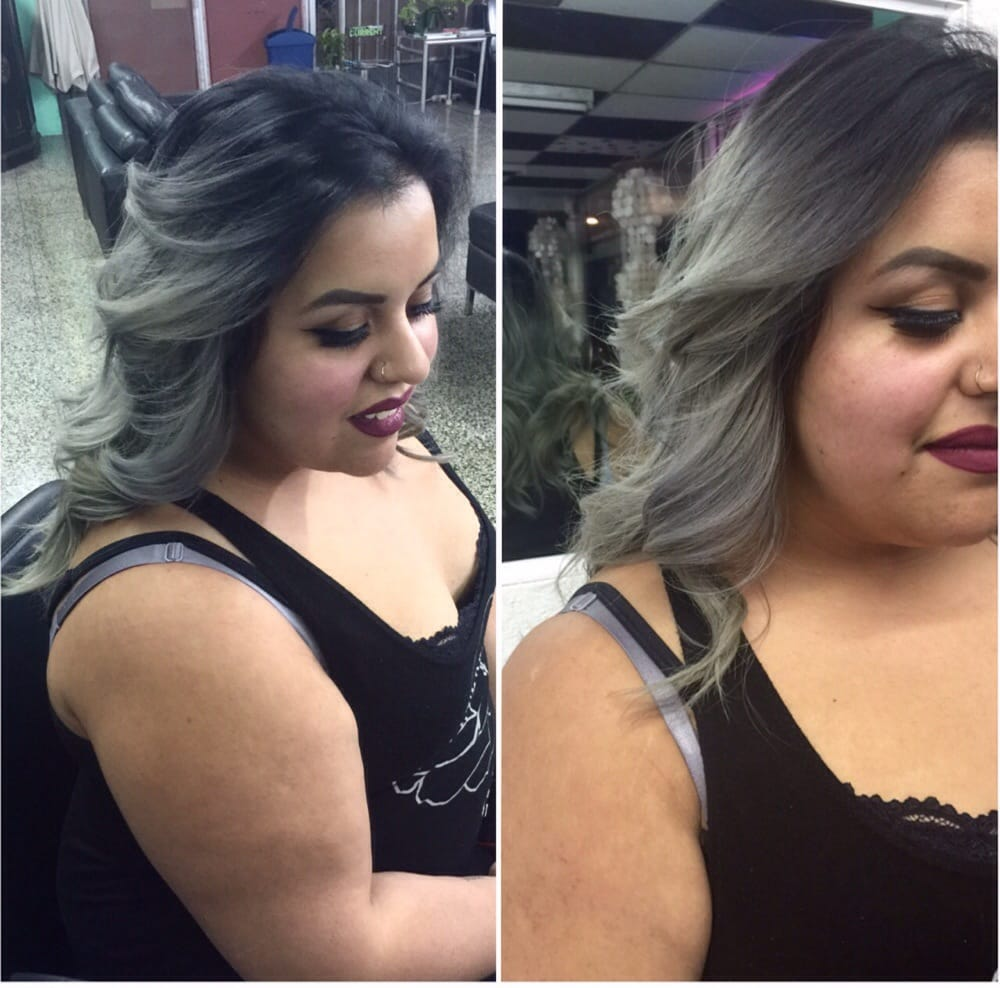 Grey color note color correction 6 hours 65 hour for Lux hair salon