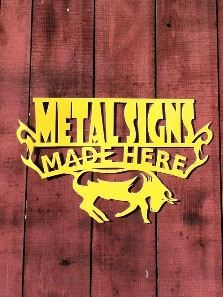 Plasma cut metal signs - Yelp