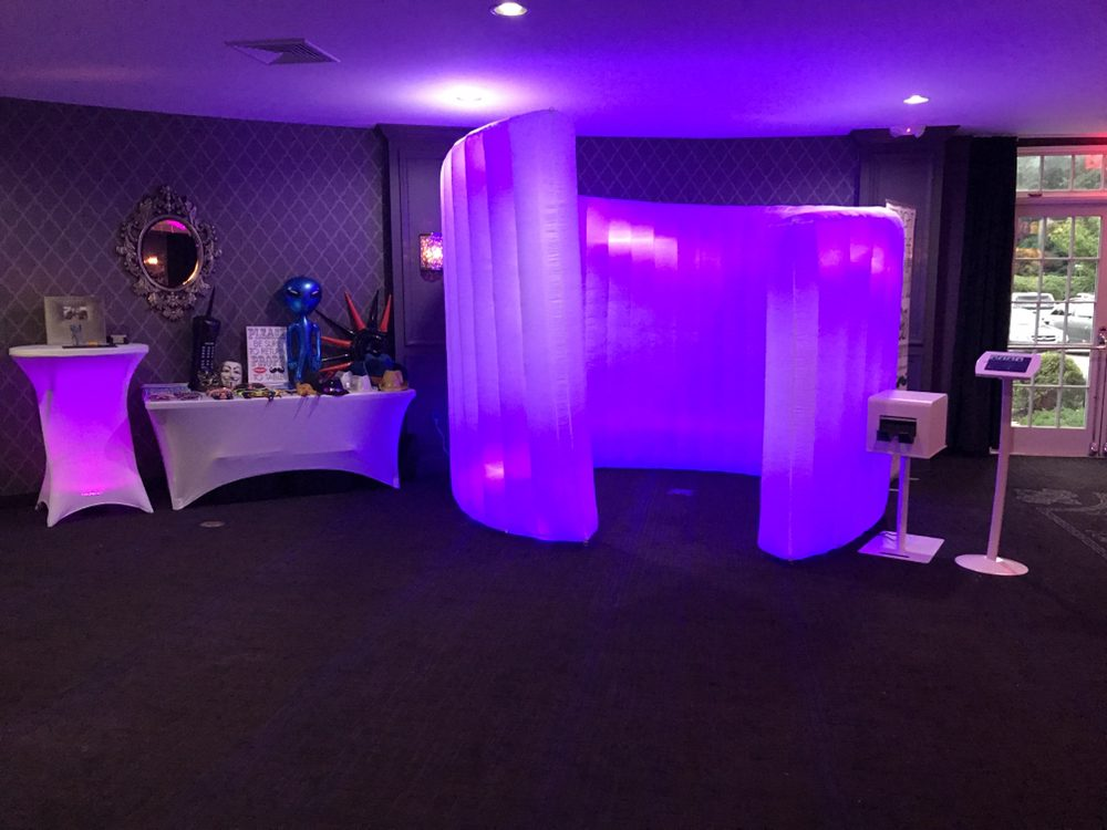 Led Inflatable Cyclone Wall Wled Prism Booth Wprinter Stand Photo