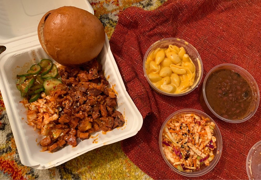 Food from Heirloom Market BBQ