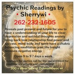 Psychic Readings by Sherrywi - Psychics - 200 S Silver Lake St