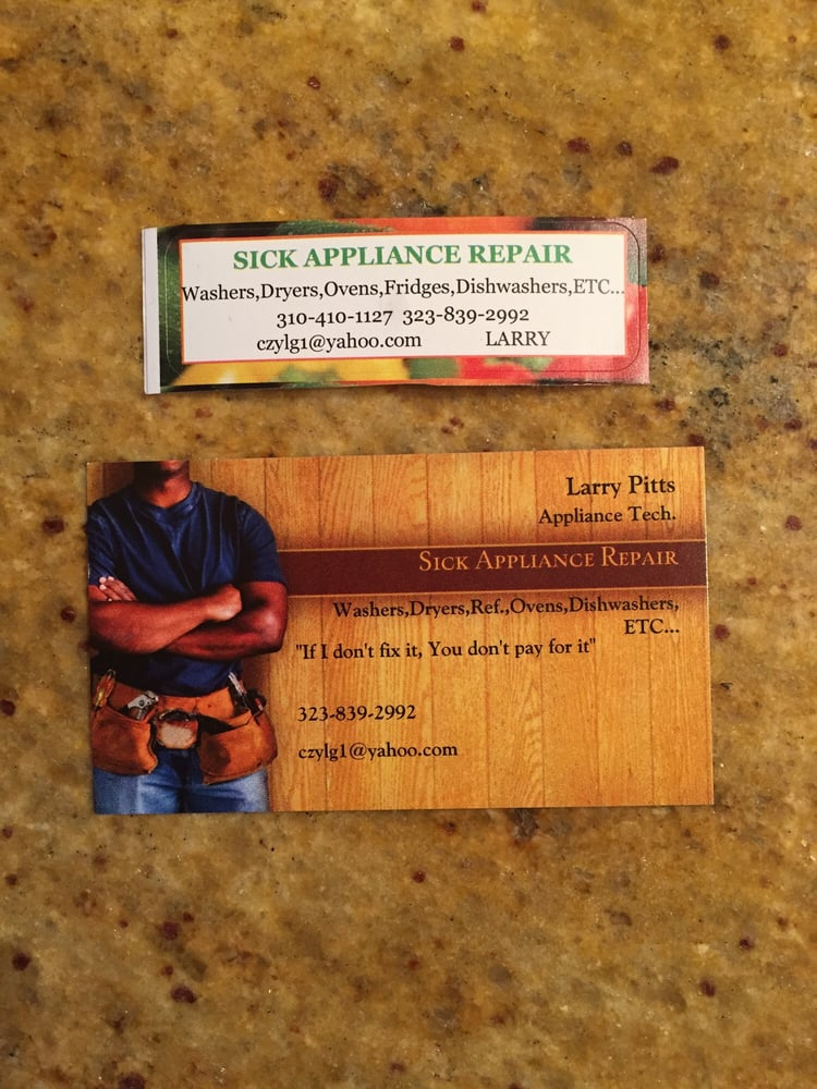 Sick Appliance Repair Gift Cards and Gift Certificates - Inglewood