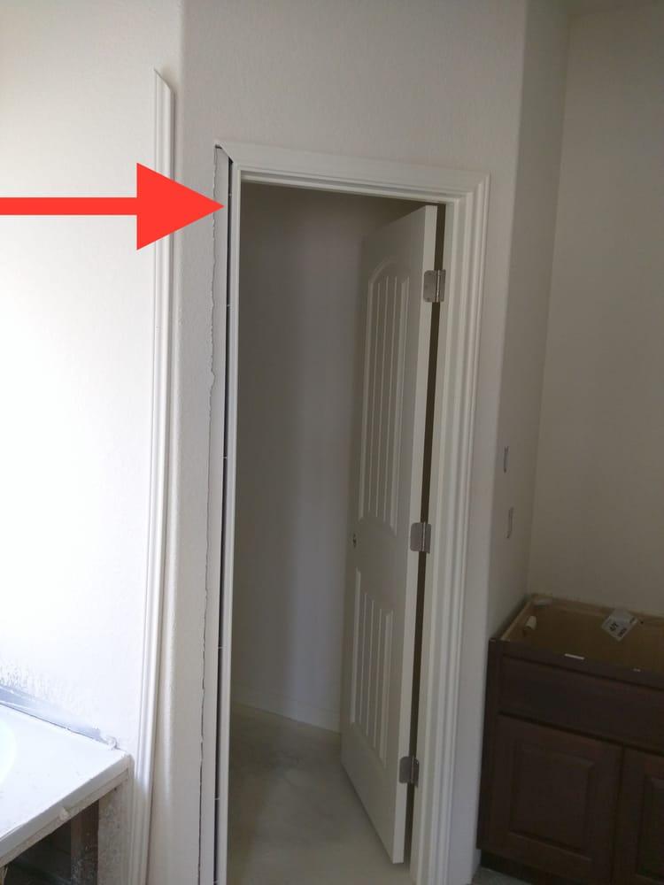 Gap between door frame and wall - Yelp