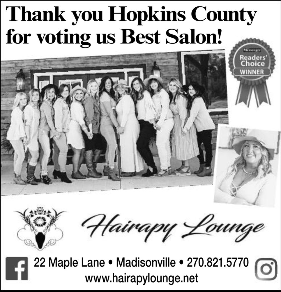 Hairapy Lounge: 22 Maple Ln, Madisonville, KY