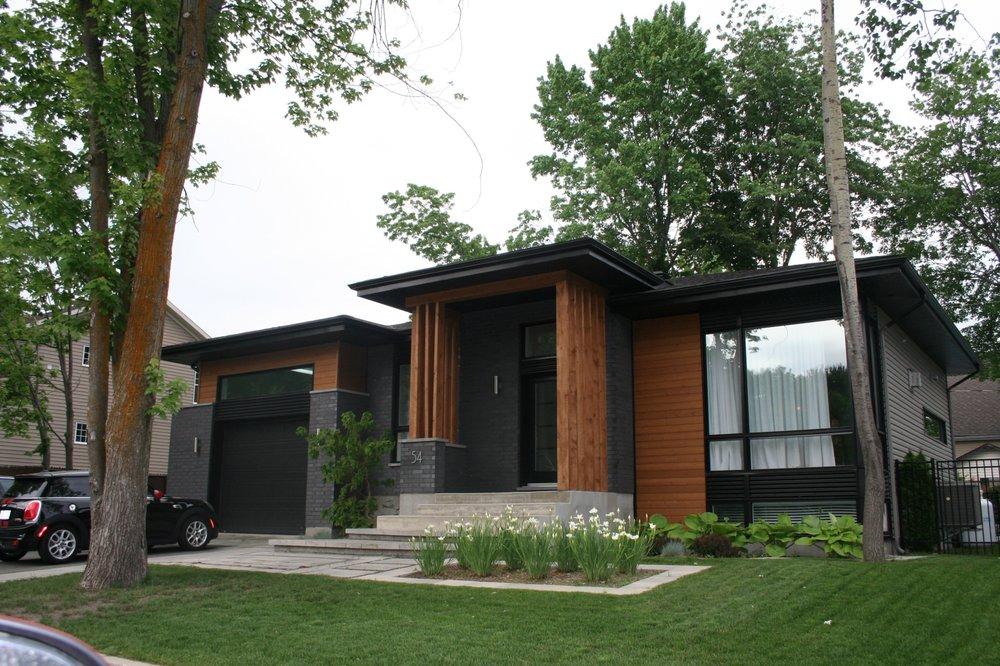 Porche D Entrée Bois charpente de bois (porche d'entrée) - projet résidentiel - yelp