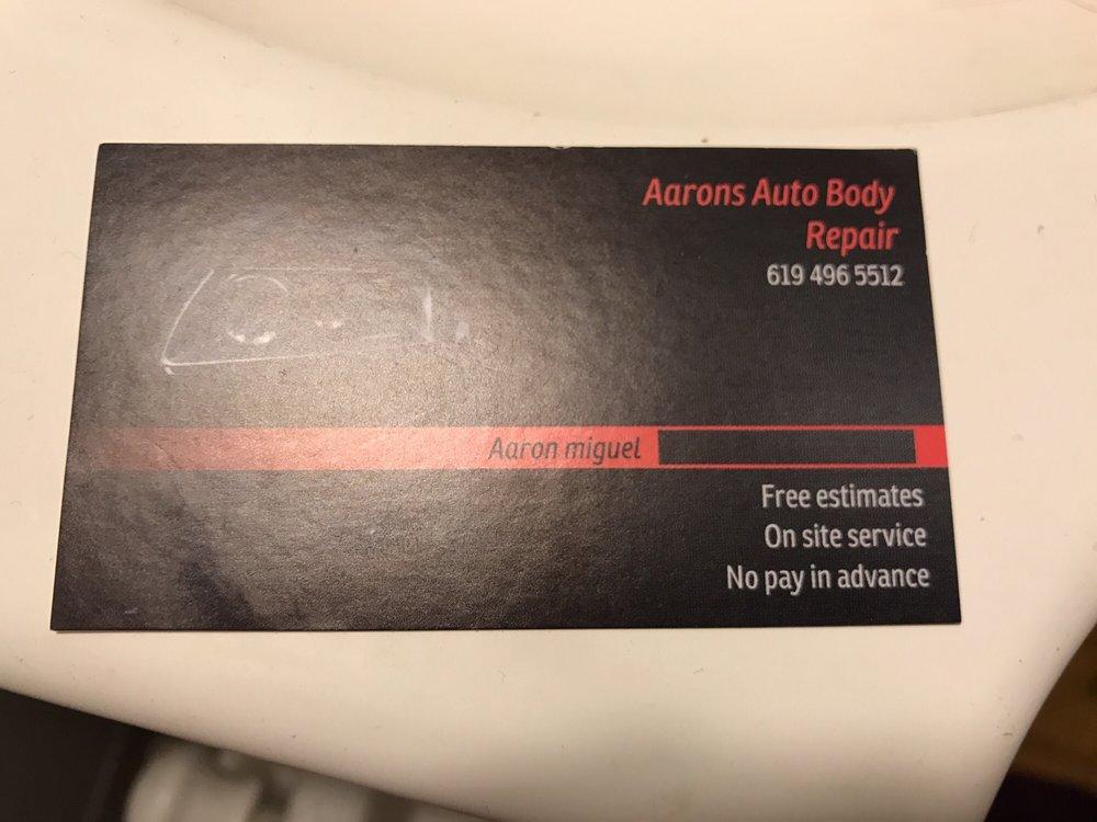 Aarons Auto Body Repair Auto Repair San Diego Ca Phone Number