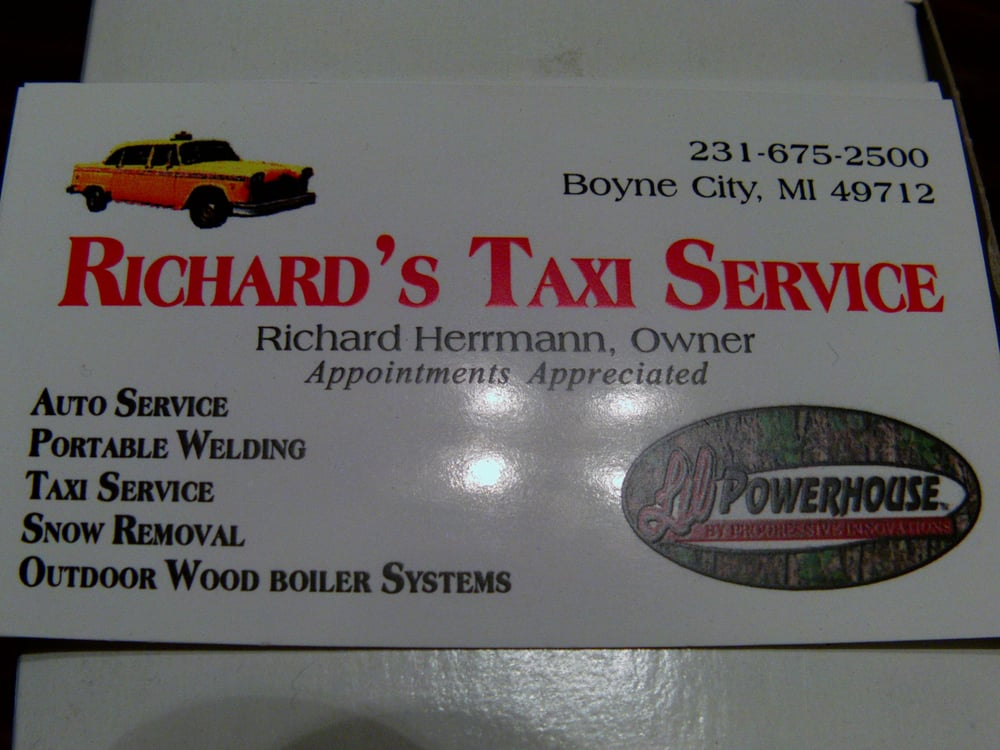 Richard's Taxi Auto Repair & Portable Welding: 1355 S Advance Rd, East Jordan, MI