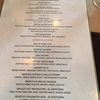 Anthony Restaurant Haddon Heights Nj Menu