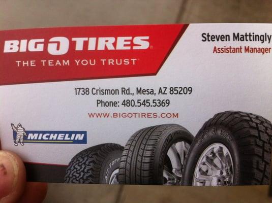 Big O Tires 1738 S Crismon Rd Mesa Az Tire Dealers Mapquest
