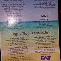Fat Tuesday Food Menu Miami