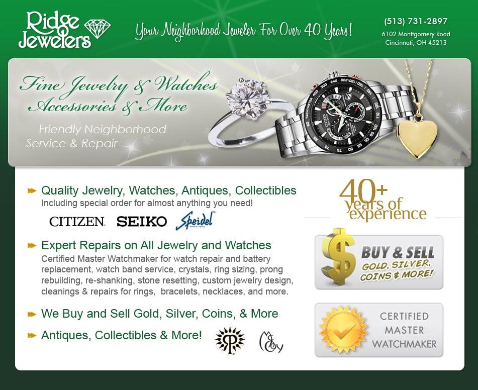 Ridge Jewelers: 6102 Montgomery Rd, Cincinnati, OH