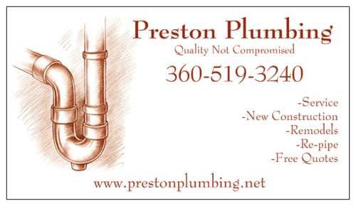 Preston Plumbing: Port Orchard, WA
