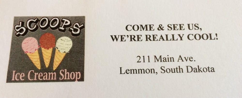 Scoops Ice Cream Shop: 211 Main Ave, Lemmon, SD