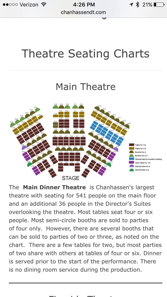 Seating chart yelp