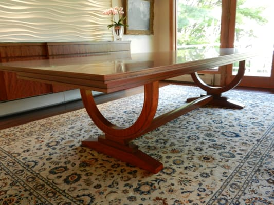 12 foot dining room table | CUSTOM 12 FT DINING ROOM TABLE WITH INLAY BORDER | Yelp