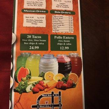 Don Senor Mexican Restaurant Menu