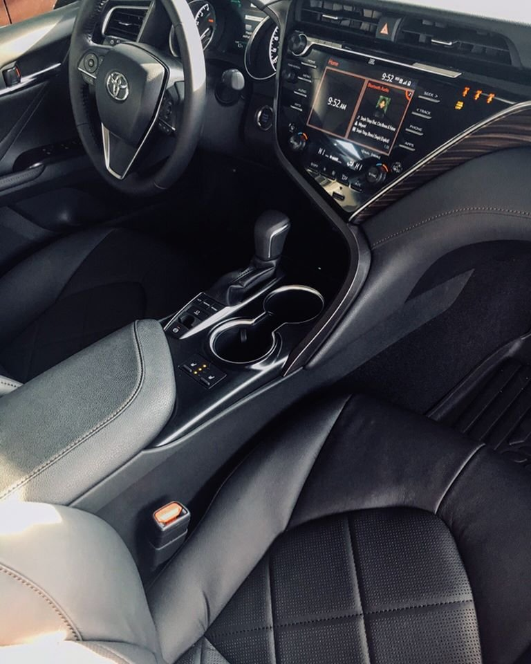 Concord Toyota Used Cars: 2018 Toyota Camry XLE Black Leather Interior