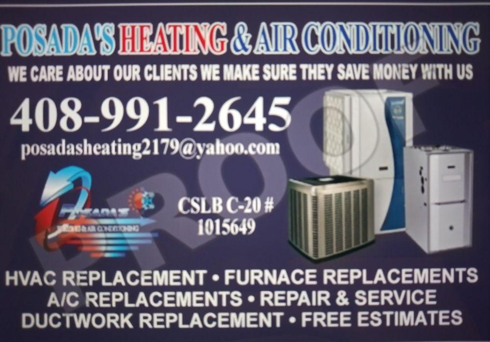 Posada's Heating & Air Conditioning: 13810 Highwood Dr, San Jose, CA