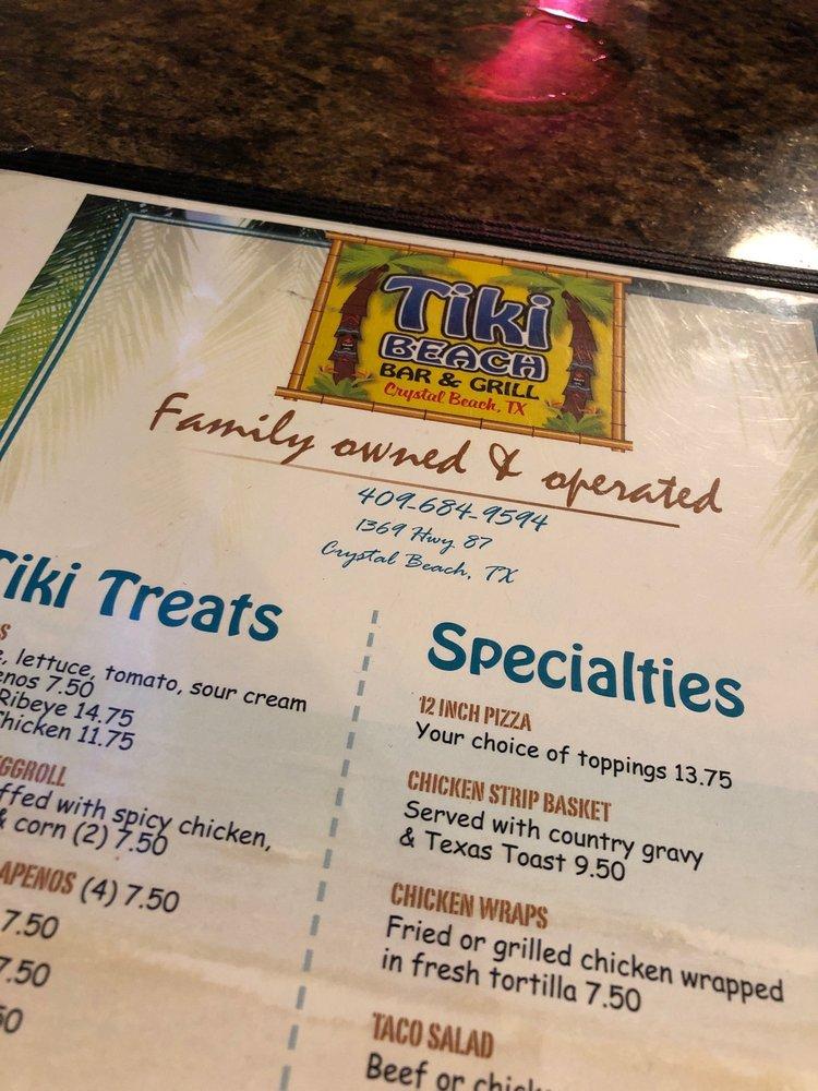 Tiki Beach Bar and Grill: 1369 State Hwy 87, Crystal Beach, TX