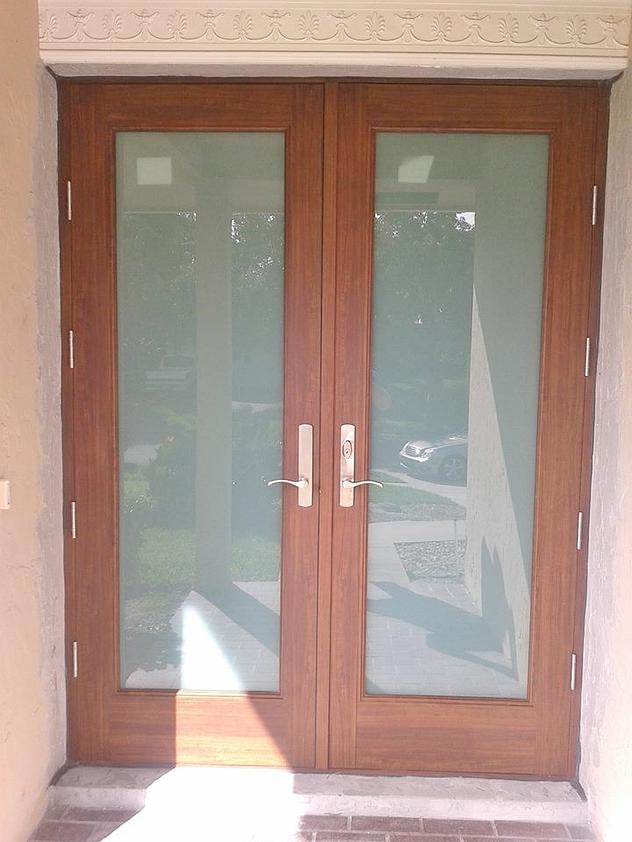 High Impact Entrance French Door For Houses Located In