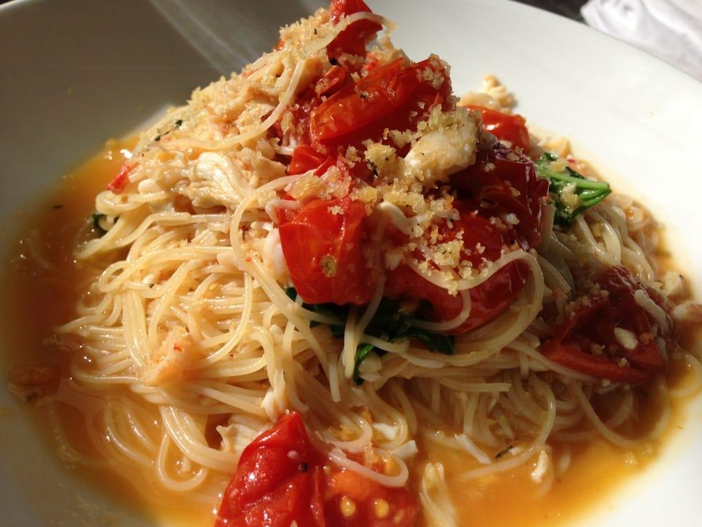 Angel Hair Pasta With Alaskan Crab Tomato And Garlic Yelp